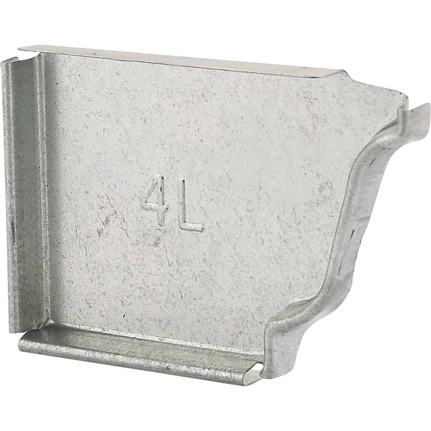 NorWesco 4 In. Galvanized Left Gutter End Cap Image 1