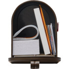 Gibraltar Elite T1 Bronze Steel Rural Post Mount Mailbox Image 3