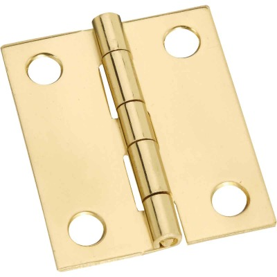 National 1-1/2 In. x 1-1/4 In. Brass Medium Decorative Hinge (2-Pack)