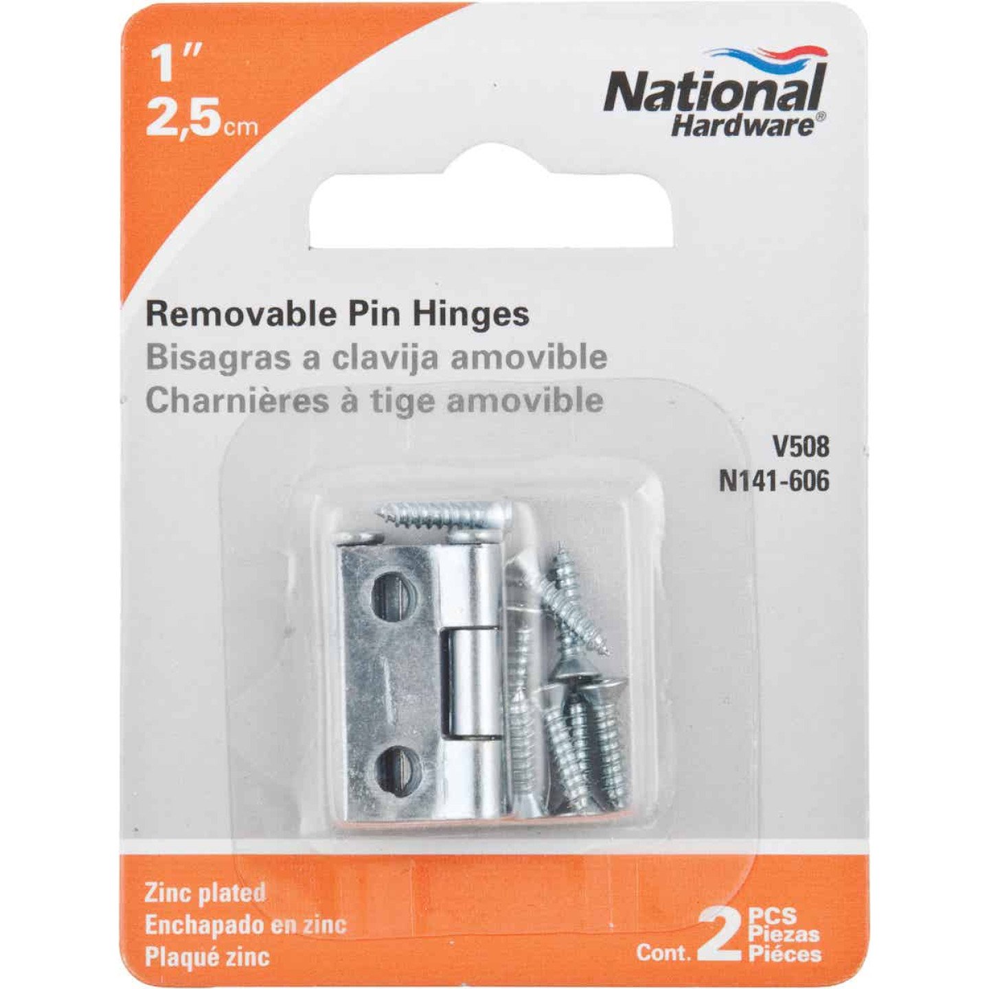 National 1 In. Zinc Loose-Pin Narrow Hinge (2-Pack) Image 2