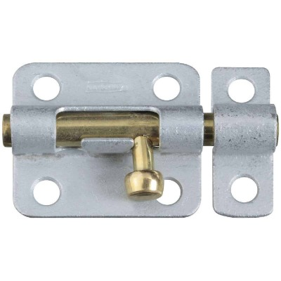 National 2-1/2 In. Galvanized Steel Door Barrel Bolt