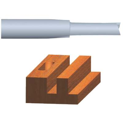 Vermont American Carbide Tip 3/16 In. Straight Bit