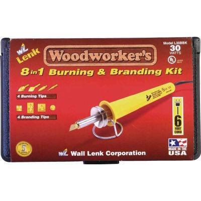 Wall Lenk Woodworker's 30W 8-in-1 Branding & Wood Burning Kit