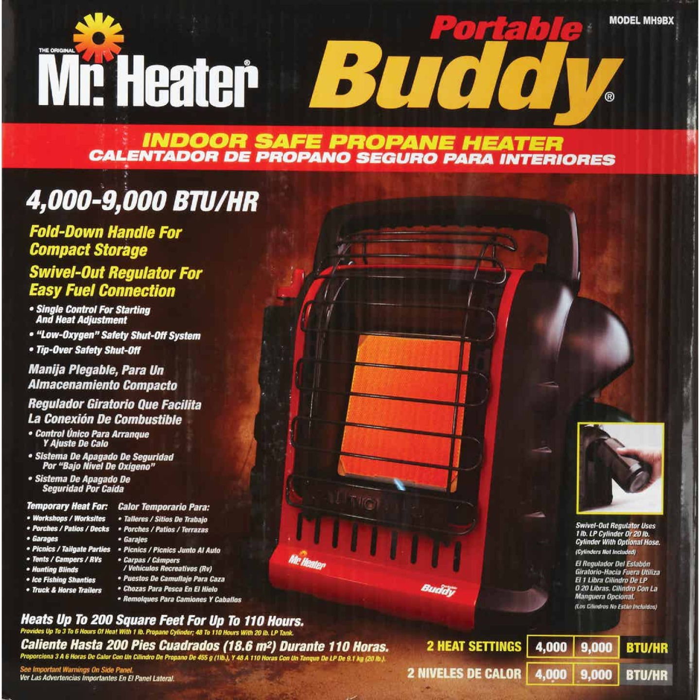MR. HEATER 9000 BTU Radiant Portable Buddy Propane Heater Image 7