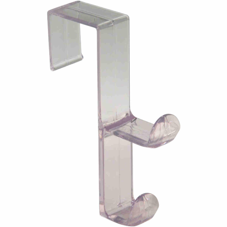 InterDesign Plastic Clear 1 In. Over-the-Door Hook Image 1