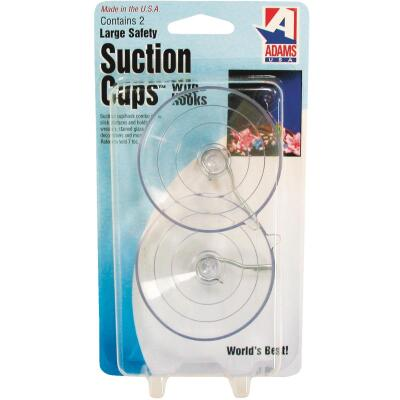 Adams 2-1/2 In. 8 Lb. Holding Capacity Suction Cup with Metal Hook (2-Pack)