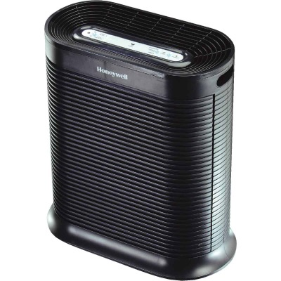 Honeywell True HEPA 456 Sq. Ft. Black Tabletop Large Room Air Purifier