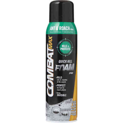 Combat Max 17.5 Oz. Foaming Aerosol Spray Ant & Roach Killer