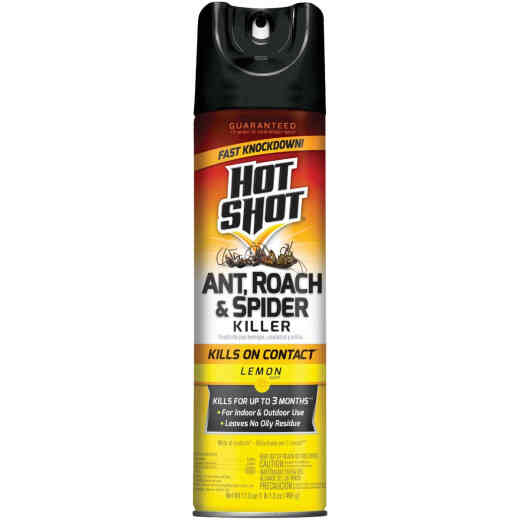 Hot Shot 17.5 Oz. Lemon Fresh Scent Aerosol Spray Ant, Roach, & Spider Killer