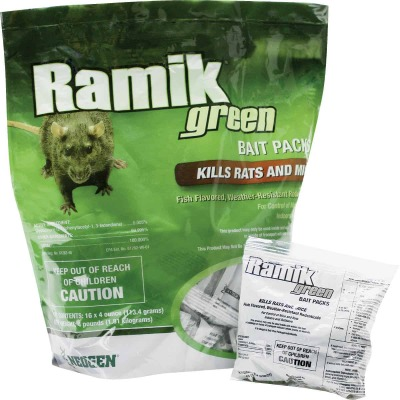 Ramik Green Pellet Bait Pack Rat And Mouse Poison (16-Pack)