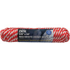 Do it 3/8 In. x 50 Ft. Red & White Derby Polypropylene Packaged Rope Image 1