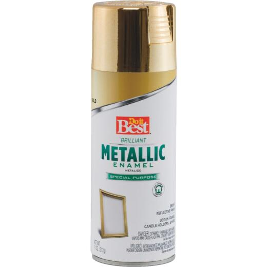 Do it Best 11 Oz. Metallic Satin Enamel Spray Paint, Gold