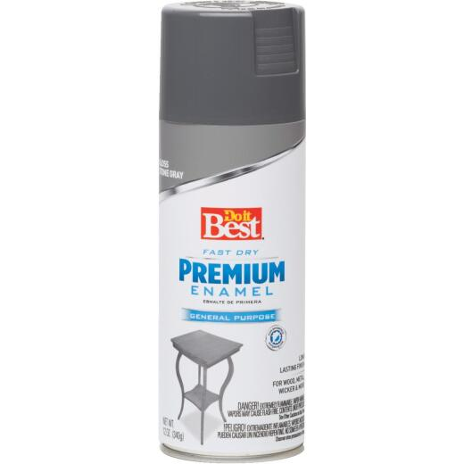 Do it Best Premium Enamel 12 Oz. Gloss Spray Paint, Stone Gray