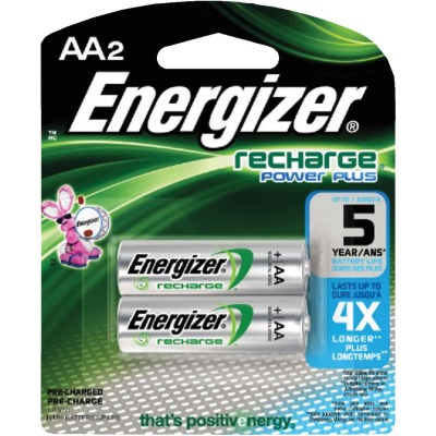 Energizer Recharge AA NiMH Rechargeable Battery (2-Pack)